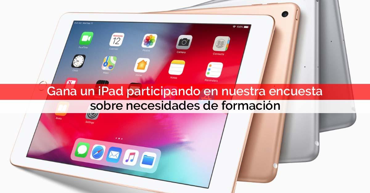 Gana un iPad participando en nuestra encuesta sobre necesidades de formación | Core Networks Sevilla